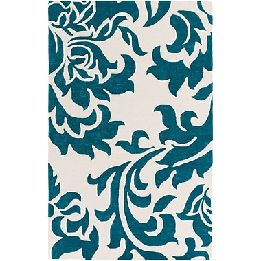 Artistic Weavers Lounge Heidi Hand-Tufted Teal/Off-White Area Rug; 4' x 6'