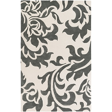 Artistic Weavers Lounge Heidi Hand-Tufted Dark Gray/Off-White Area Rug; 8' x 10'