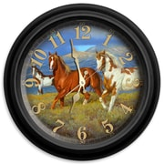 ReflectiveArt Wild Horse 16'' Classic Wall Clock