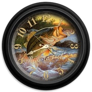 ReflectiveArt Live to Fish 16'' Classic Wall Clock