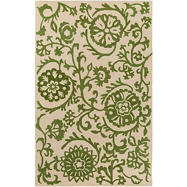 Artistic Weavers Rhodes Maggie Hand-Tufted Green/Off-White Area Rug; 4' x 6'