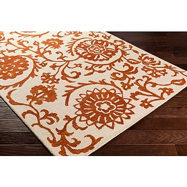 Artistic Weavers Rhodes Maggie Hand-Tufted Rust/Off-White Area Rug; Runner 2' x 8'