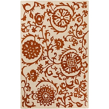 Artistic Weavers Rhodes Maggie Hand-Tufted Rust/Off-White Area Rug; Rectangle 4' x 6'