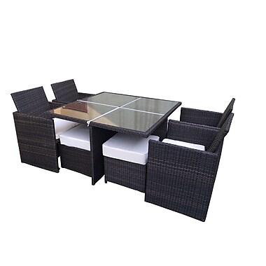 Ivy Bronx Galina Modern 9 Piece Dining Set w/ Cushions