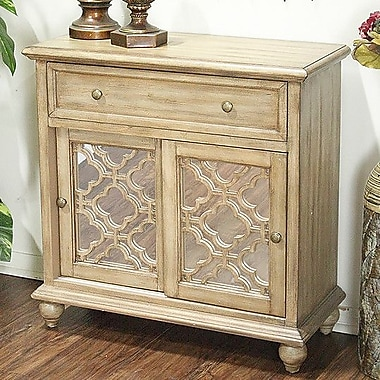 Heather Ann 1 Drawer 2 Door Accent Cabinet; Woodtone Finish