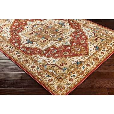 Artistic Weavers Nicea Rufus Crimson Red/Teal Area Rug; 2' x 3'