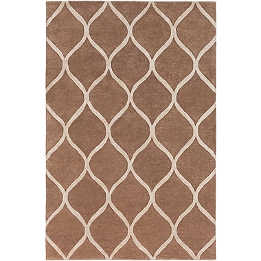 World Menagerie Massey Hand-Tufted Brown Area Rug; Runner 2'3'' x 8'