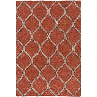 World Menagerie Massey Hand-Tufted Clay Area Rug; 7'6'' x 9'6''