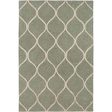World Menagerie Massey Hand-Tufted Green Area Rug; 4' x 6'