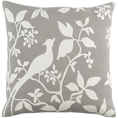 Artistic Weavers Kingdom Birch Cotton Throw Pillow; Gray/ White
