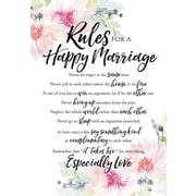 Dexsa Woodland Grace Rules For Happy Marriage Textual Art on Wood