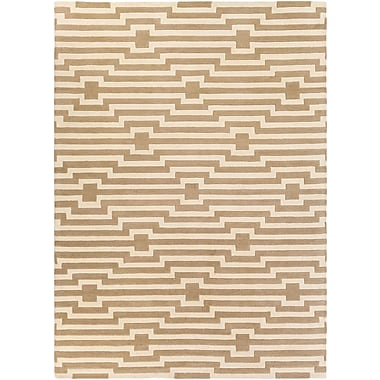 Artistic Weavers Transit Sawyer Hand-Tufted Beige Area Rug; Rectangle 7'6'' x 9'6''