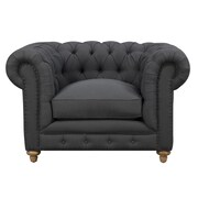 TOV Soho Chesterfield Chair; Grey