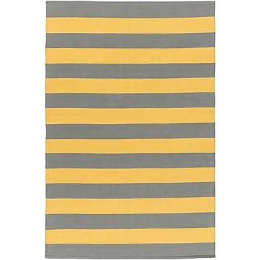 Artistic Weavers City Park Lauren Handmade Gray/Yellow Area Rug; 3' x 5'
