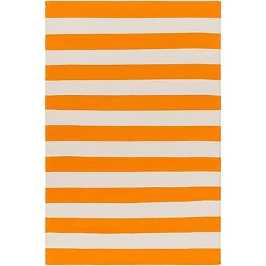 Artistic Weavers City Park Lauren Handmade Orange/Ivory Area Rug; 5' x 7'6''
