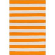 Artistic Weavers City Park Lauren Handmade Orange/Ivory Area Rug; 3' x 5'