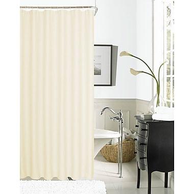 Dainty Home Hotel Waffle Shower Curtain; Ivory