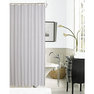 Dainty Home Hotel Waffle Shower Curtain; Silver