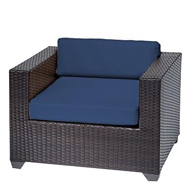 TK Classics Belle Club Chair w/ Cushions; Navy