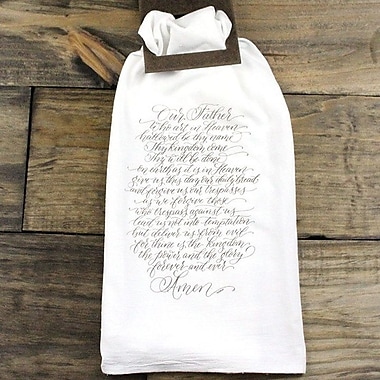 Clairmont&Company Sack Cloth Lord's Prayer Towel