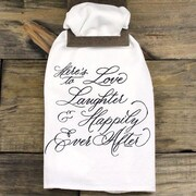 Clairmont&Company Sack Cloth Love and Laughter Towel