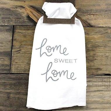 Clairmont&Company Sack Cloth Home Sweet Home Towel