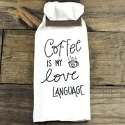 Clairmont&Company Sack Cloth Coffee Language Towel