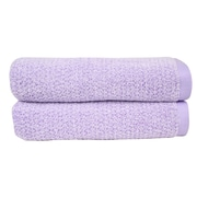 Everplush Diamond Jacquard Bath Towel (Set of 2); Lavender