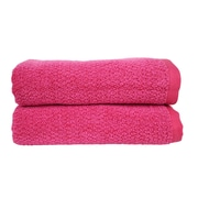 Everplush Diamond Jacquard Bath Towel (Set of 2); Magenta