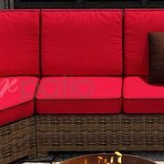 Forever Patio Cypress Sectional Middle Deep Seating Chair w/ Cushion