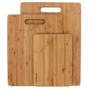 Freshware 3 Piece Bamboo Cutting Board Set