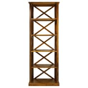 Casual Home Bay View 6-Shelf 77'' Standard Bookcase; Brown