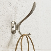 Richelieu Contemporary Metal Wall Hook; Brushed Nickel