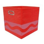 Modern Littles Crayola Serpentine Fabric Storage Bin; Red