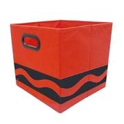 Modern Littles Crayola Serpentine Fabric Storage Bin; Red/Black