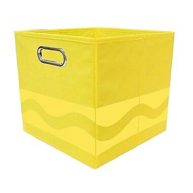 Modern Littles Crayola Serpentine Fabric Storage Bin; Yellow