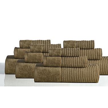 Rockford International 650 GSM 100pct Cotton Sensual Spa Avalon 12 Piece Towel Set; Cocoa