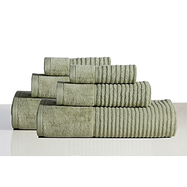 Rockford International 650 GSM 100pct Cotton Sensual Spa Avalon 6 Piece Towel Set; Basil