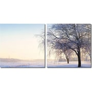 Wholesale Interiors 'Snowy' 2 Piece Photographic Print on Canvas Set