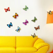 Walplus 3D Colorful Butterflies Wall Decal