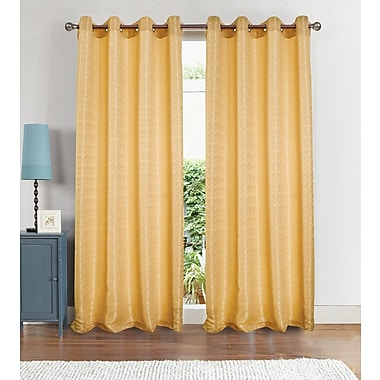 RT Designer's Collection Luxe Grommet Single Curtain Panel; Gold