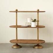 Creative Co-Op Collected Notion Wood Tiered Stand