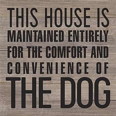 Artistic Reflections 'This House is Maintained Entirely for - The Dog' Textual Art on Wood in Gray
