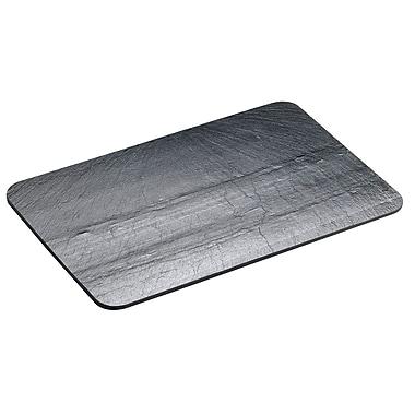 Cal-Mil Melamine Faux Slate Platter; 1'' H x 10'' W x 14'' D