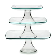 Circle Glass Chic 3 Tier Stackable Square Tiered Stand