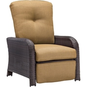 Cambridge Corolla Luxury Recliner Chair w/ Cushions; Tan