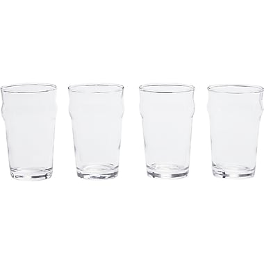 Circle Glass Stout Mini 8.28 oz. Nonic Beer Glass (Set of 4)