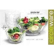 Circle Glass Popular 5 Piece Salad Bowl Set