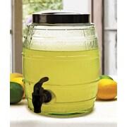 Circle Glass Micro Barrel 1.3 Gal Beverage Dispenser