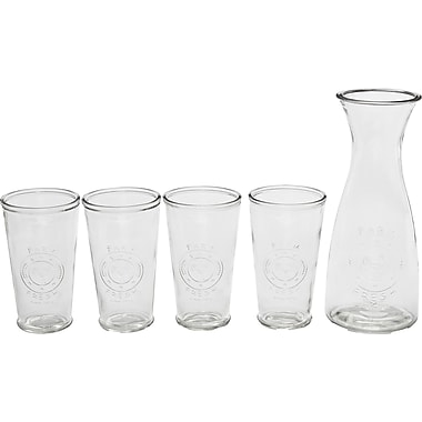 Circle Glass Ranch 5 Piece Beverage Serving Set